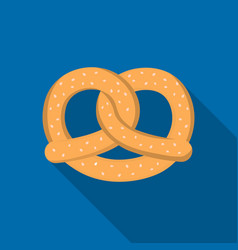 Pretzel icon in flat style isolated on white vector
