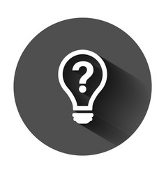 Problem solution icon in flat style light bulb vector