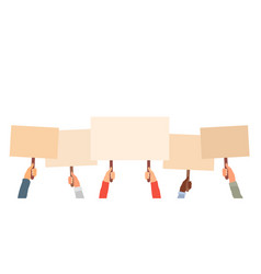 protest picket and peaceful demonstration people vector image