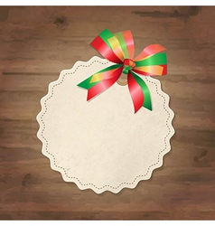 Retro Label With Ribbon vector image