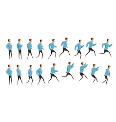 Running And Jumping Man Animation vector image