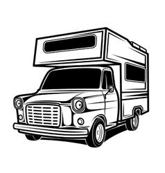 Rv cars recreational vehicles camper vans caravans vector