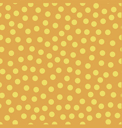 seamless repeat yellow dots on orange background vector image