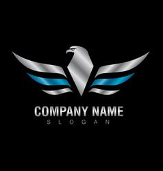 Silver eagle logo vector