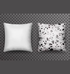 soft pillow sleep abstract print realistic 3d vector image