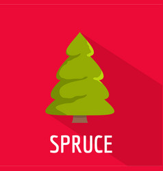 spruce tree icon flat style vector image