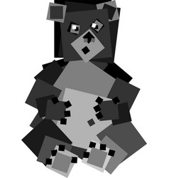 Square bear vector