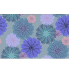 Striped Cornflowers Pattern vector