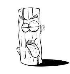 Stump stuck tongue vector