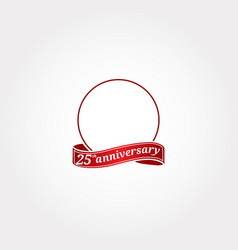 Template logo 25th anniversary with a circle vector