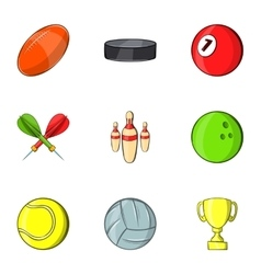 Training icons set cartoon style vector