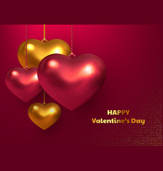 valentines day wedding decorative love concept vector image