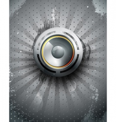 Vector musical speaker icon vector