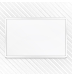 White Frame on Striped Background vector image