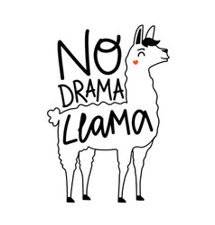 with smiling doodle style drawing llama vector image