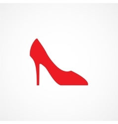 Woman shoe icon vector image