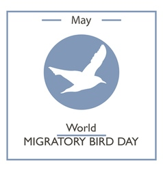 World Migratory Bird Day vector