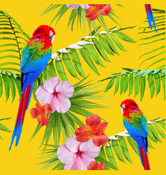exotic tropical summer decoration seamless pattern vector image vector image