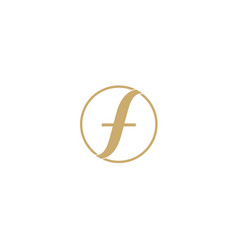 f letter logo abstract design for fashion business vector image