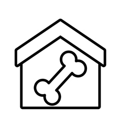 house pet food dog food outline vector image