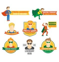 Superhero label vector image