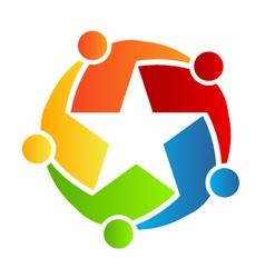 Team star logo vector