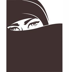 arabian girl vector image