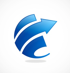 arrow finance round loop abstract logo vector image