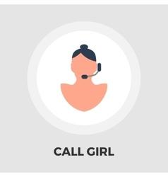 Call girl flat icon vector image vector image