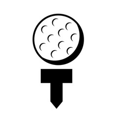 golf ball isolated icon vector image vector image