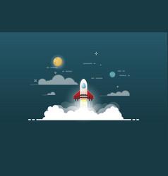 launch rocket project vector image