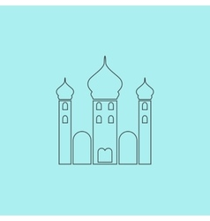 Mosque icon on background vector image