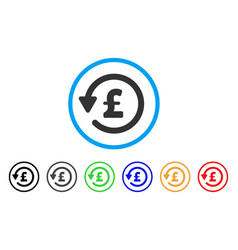 Pound rebate rounded icon vector