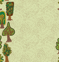 Seamless hand-drawn border pattern with doodle vector image