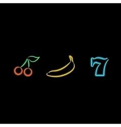 Slot Machine Neon Symbols vector image vector image