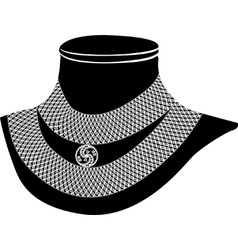 ancient necklace vector image vector image