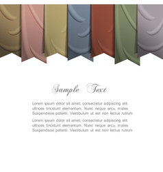 background with silk ribbons vector image