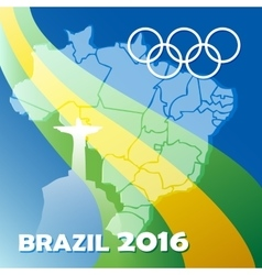Brazil Olympic Games Poster vector image vector image