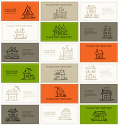 Business cards with houses for your design vector image