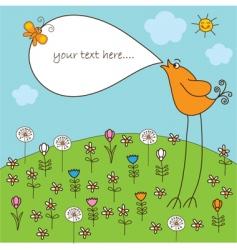 cute songbird vector image vector image