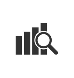 financial forecast icon in flat style business vector image