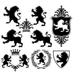 heraldry silhouettes vector image vector image
