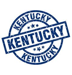 Kentucky blue round grunge stamp vector