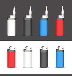 set of lighters vector image vector image