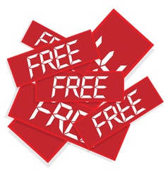 stickers with text free vector image