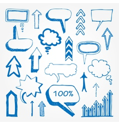 Arrows and speech bubbles set vector image vector image