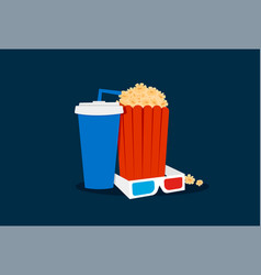 cinema time set vector image vector image