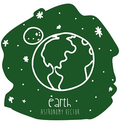 earth drawn vector image