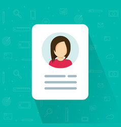 personal info icon isolated vector image