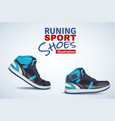 running sport shoes vector image vector image
